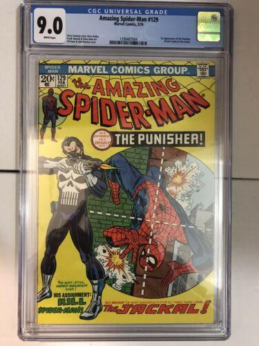 Amazing SpiderMan 129 CGC 90 1st Punisher MAJOR KEY BEAUTIFUL CHEAPEST