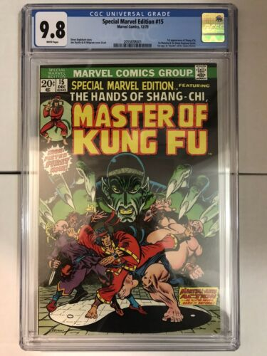 Special Marvel Edition 15 CGC 98 WHITE pages 1st ShangChi BEAUTIFUL book