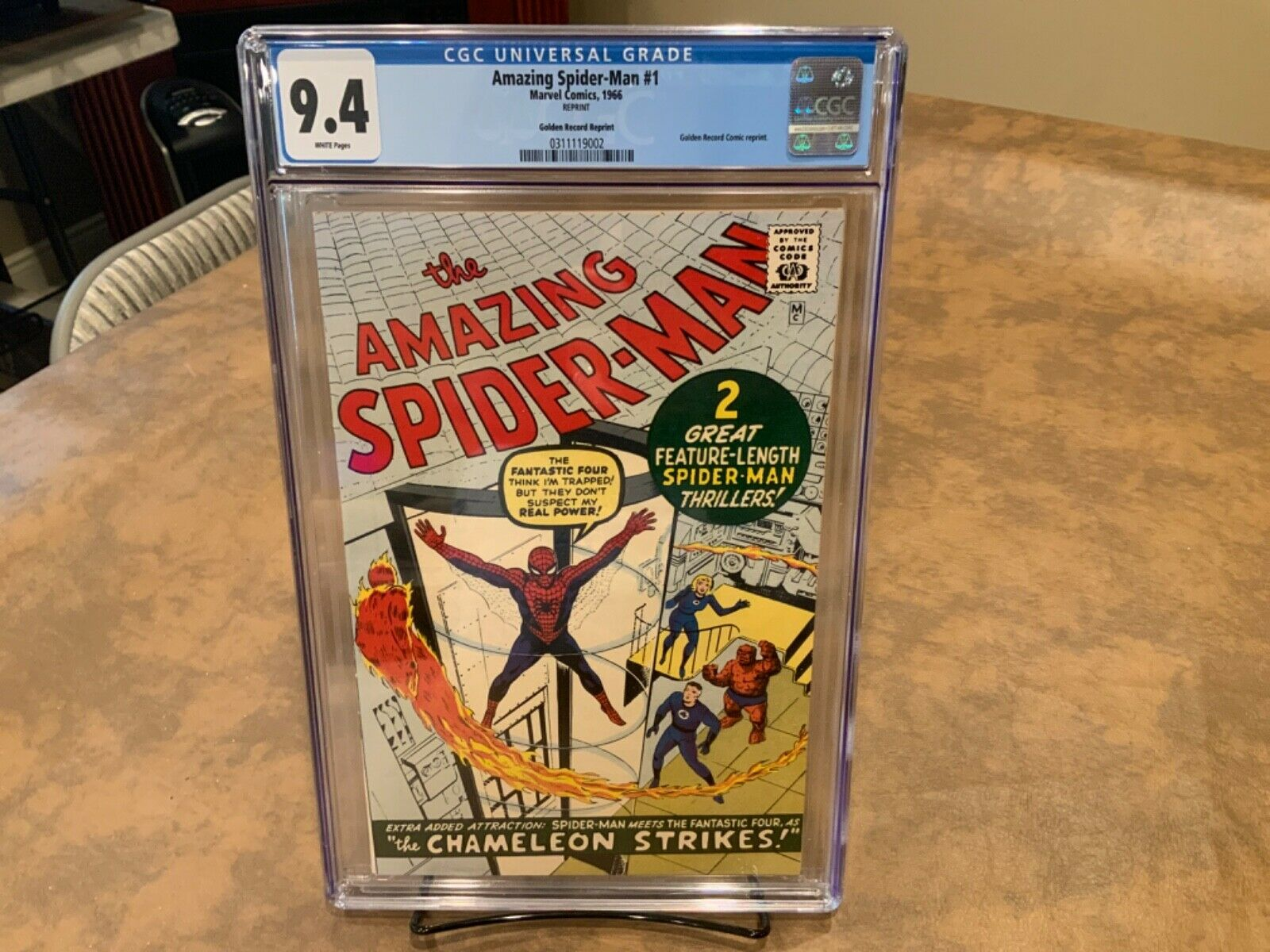 Amazing SpiderMan Golden Record Reprint 1 CGC 94 NM  White Pages WOW