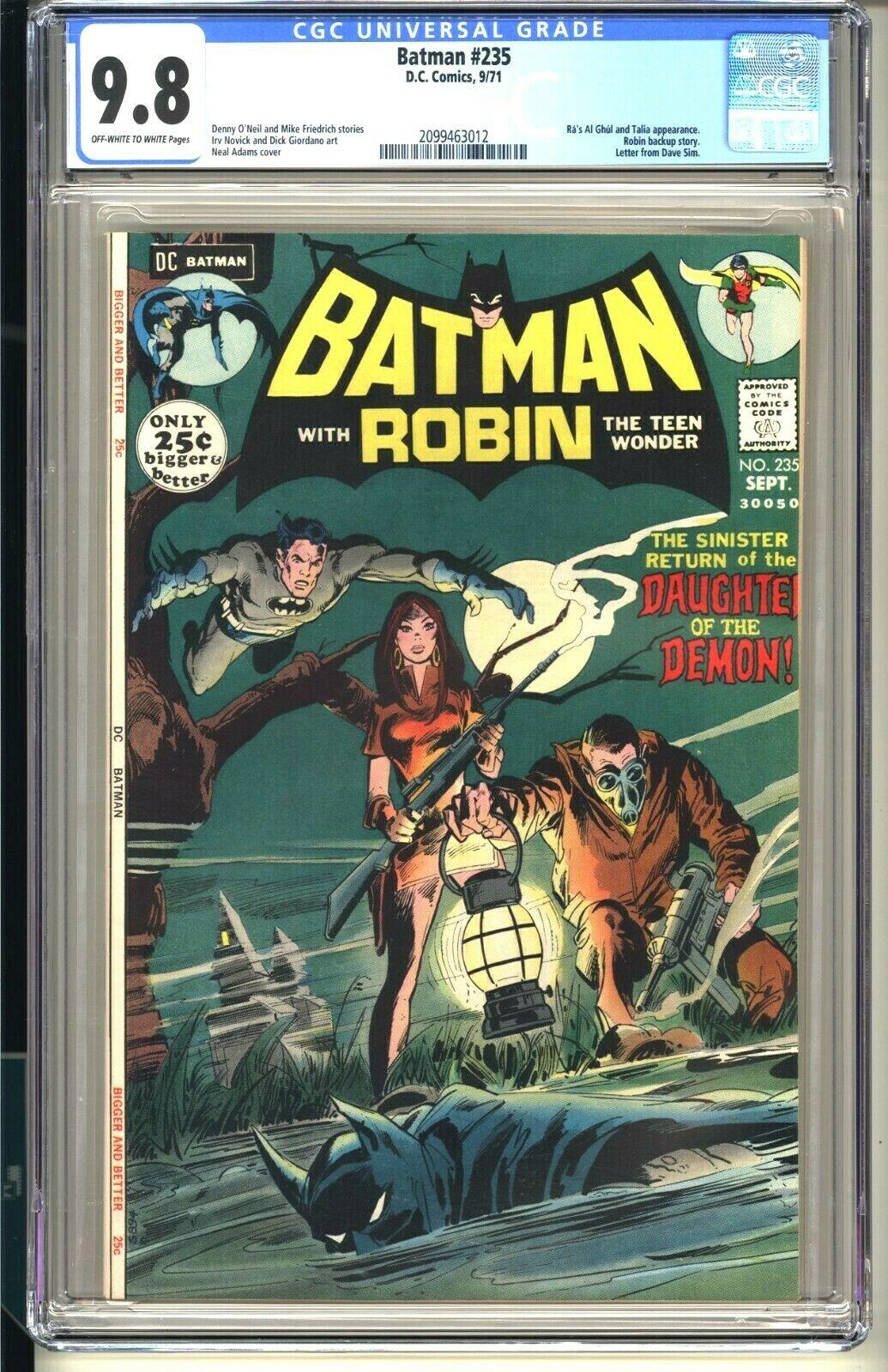 BATMAN 235  CGC 98 OWW NMMT  DC Comics 1971  Neal Adams 2nd Ras Al Ghul Talia