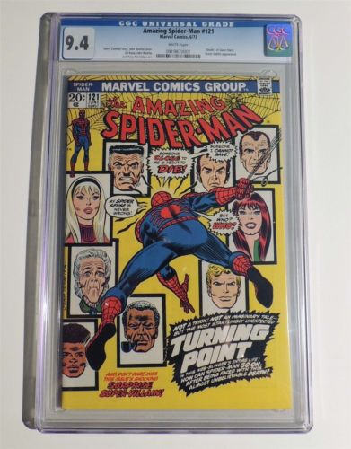 ESM002 Marvel Comics THE AMAZING SPIDERMAN 121 CGC 94 NM 1973