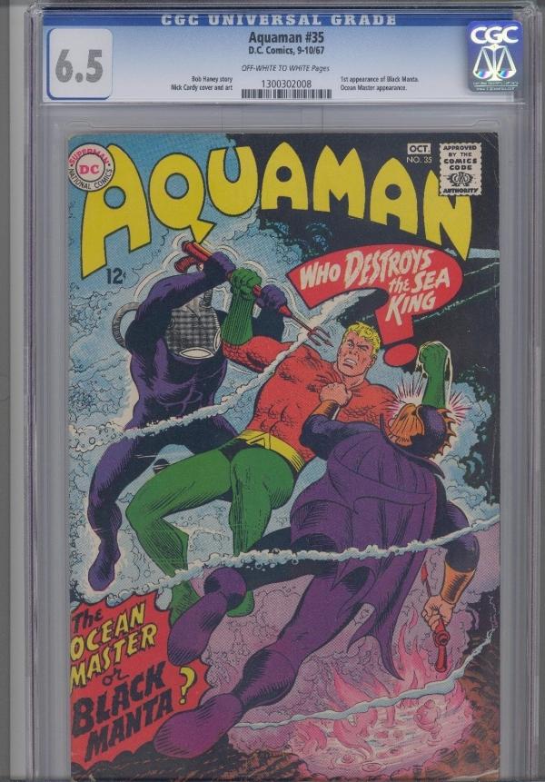 Aquaman 35 CGC 65 1967  DC Comic First Black Manta KEY Issue
