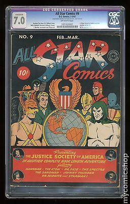 All Star Comics 19401978 9 CGC 70 CONSERVED 1201628007