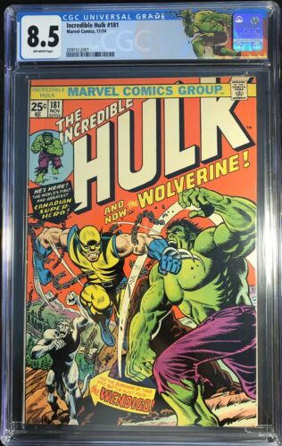 INCREDIBLE HULK 181 Marvel Comics 1974 CGC 85 WOLVERINE 1st Full Appearance