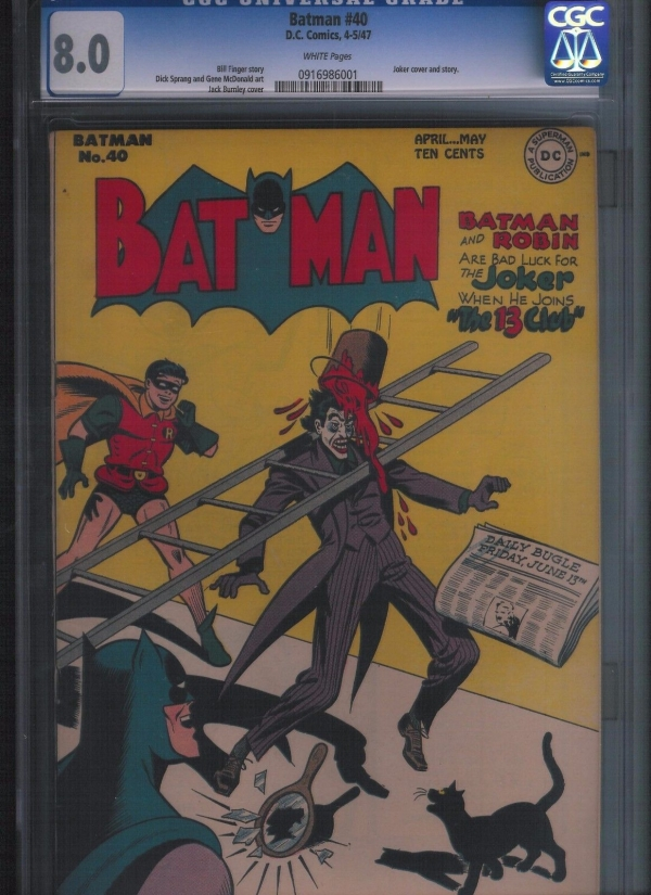 Batman  40 CGC 80  White Pages UnRestored