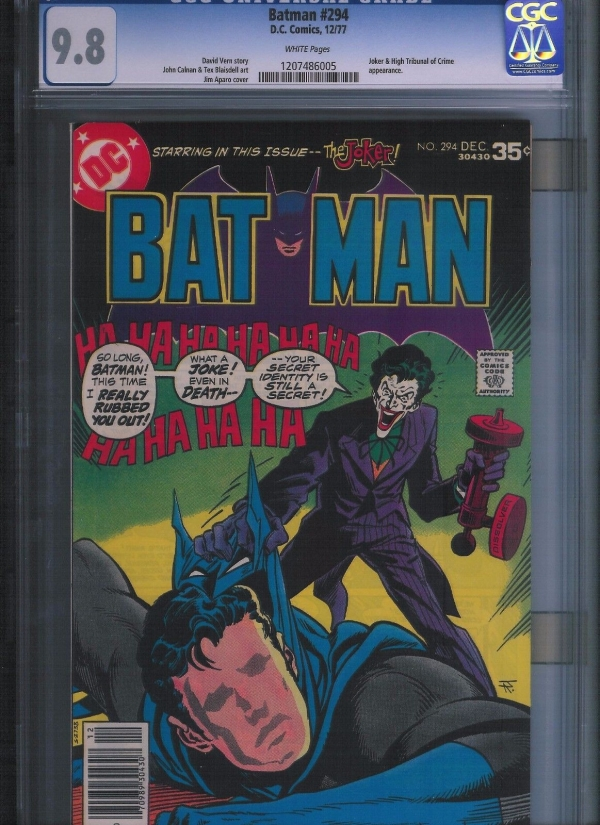 Batman  294 CGC 98  White Pages UnRestored