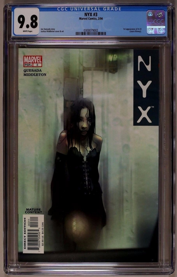 Nyx 3  CGC 98 WP  1st Appearance of X23 Laura Kinney Logan Movie
