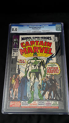 Marvel Super Heroes 12  Comic  December 1967  CGC 80  1st Captain Marvel