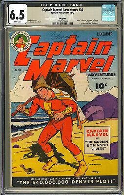 Captain Marvel Adventures 30 OKAJIMA Pedigree RARE WWII Fawcett 1944 CGC 65