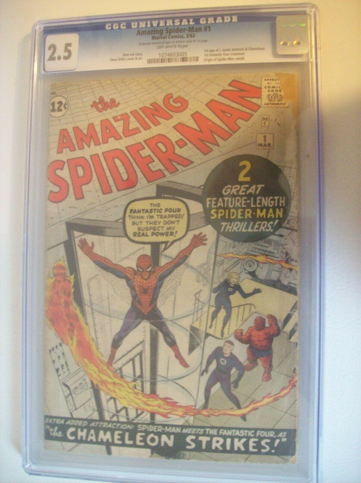 Amazing SpiderMan 1   CGC 25 1963    KEY COMIC  HOT Marvel Comics