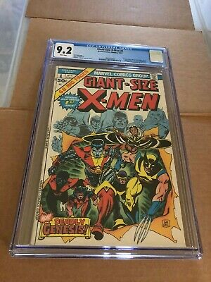 GiantSize XMen 1 CGC 92 1975 1st App New XMen 2nd Wolverine White pages