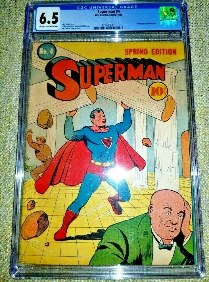 SUPERMAN 4 CGC F 65 DC 1939 SERIES 2ND APPEARANCE OF LUTHOR 72 HOURS ONLY