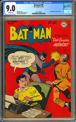 Batman 35 High Grade Original Owner Catwoman Story DC Comic 1946 CGC 90