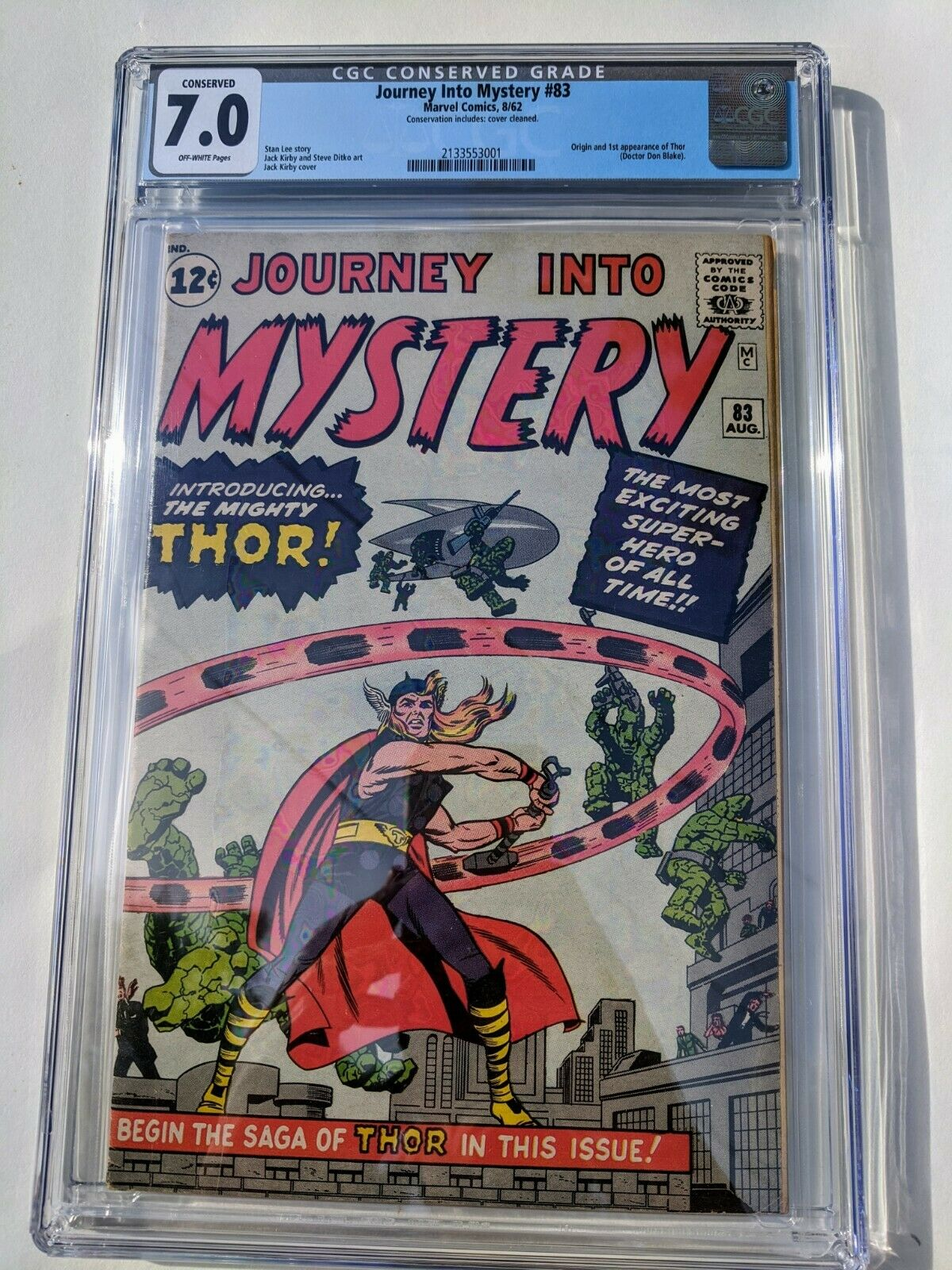 JOURNEY INTO MYSTERY 83  CGC 70  1st THOR  99 NO RESERVE