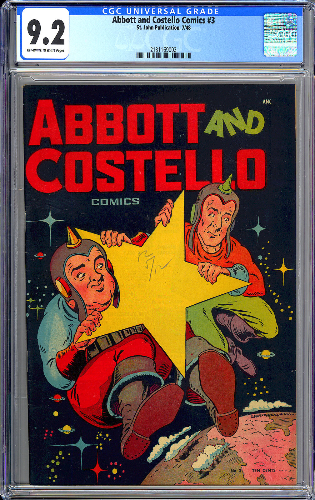 Abbott and Costello Comics 3 Highest Graded Copy PreCode St John 1948 CGC 92