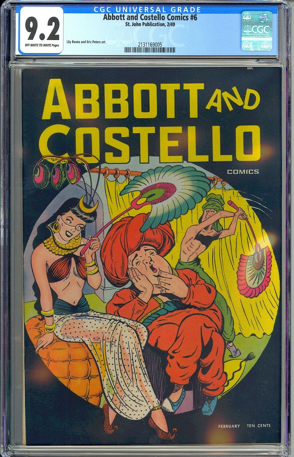 Abbott and Costello Comics 6 Highest Graded Copy Good Girl St John 1949 CGC 92
