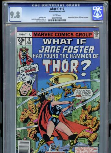 What if 10 1978 Marvel CGC 98 White Pages Jane Foster Becomes Thor