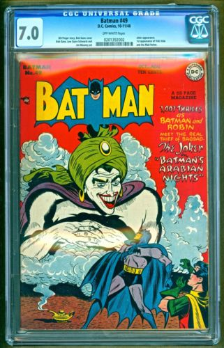 Batman 49 1948 DC Comics 1st appearance of Mad Hatter  Vivki Vale CGC 70