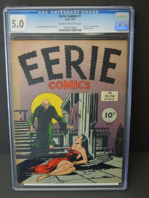 AVON COMICS EERIE 1 1947 CGC 50 GOLDEN AGE HORROR KEY JOE KUBERT ART