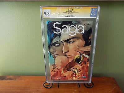 Saga 1 Retailer RRP Variant CGC SS 98 2X SIGS VAUGHAN AND STAPLES VERY RARE