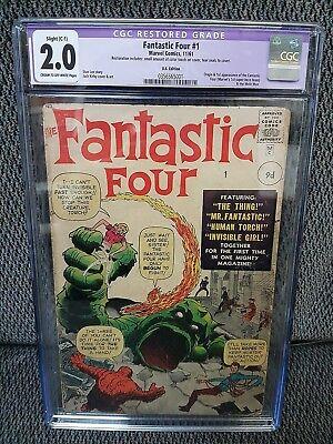 Fantastic Four 1 CGC Restored 20Good UK Edition 1st App Fantastic Four
