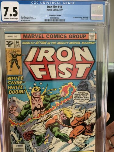 IRON FIST 14 cgc 35 Cent variant FIRST APPEARANCE SABRETOOTH