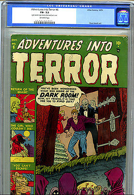 Adventures Into Terror 6 1951 Atlas CGC 55 OffWhite Pages
