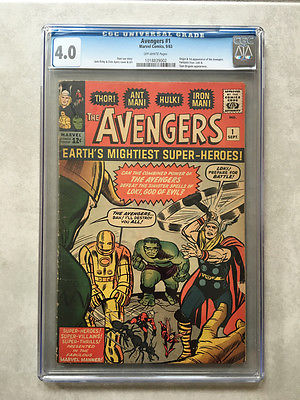 Avengers 1 CGC 40 1st appearance of the Avengers