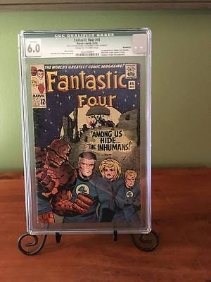 Fantastic Four  45 CGC 60 First Appearance of The Inhumans Movie Coming Soon