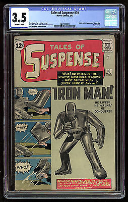 Tales Of Suspense 1959 39 CGC 35 OffWhite Pages 1st App Iron Man Blue Label