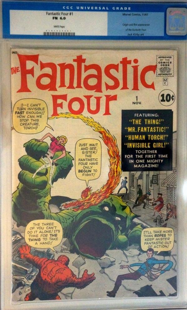 Fantastic Four 1 Nov 1961 Marvel CGC 60 Unrestored Original Silver Age