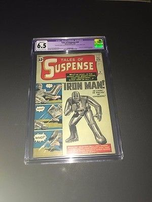 Tales Of Suspense 39  1st Appearance Of Iron Man CGC 65  Restored