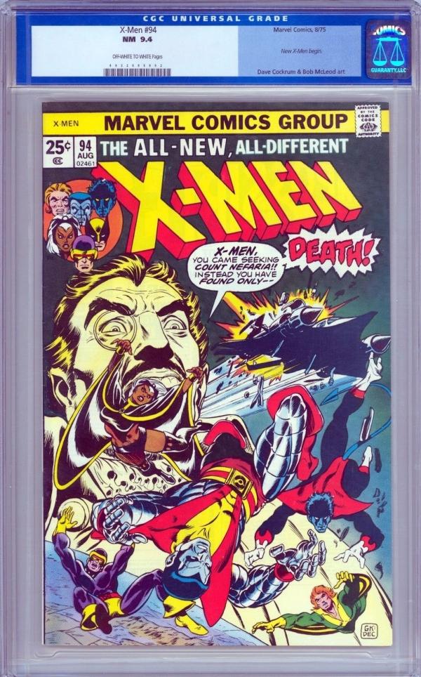 The Uncanny XMen 94 CGC 94 NM Old Label LOOKS 96 NM