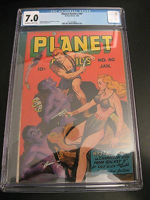 Wow PLANET COMICS 40 1946 Fiction House CGC 70 Classic CoverGGA WOW Pgs
