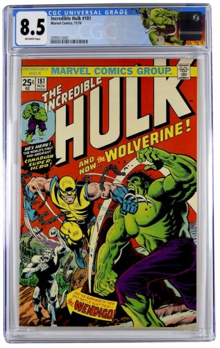 INCREDIBLE HULK 181 CGC 85 1ST APPEARANCE WOLVERINE