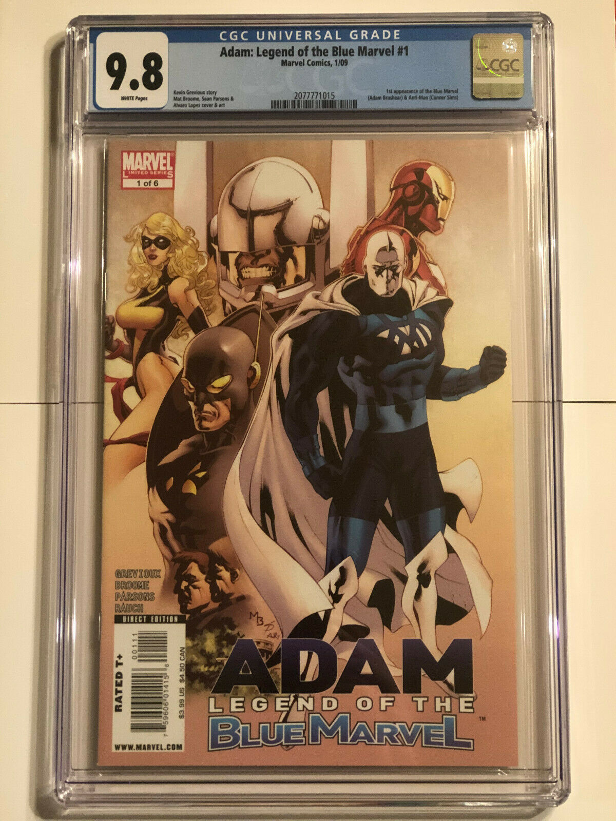ADAM LEGEND OF THE BLUE MARVEL 1 CGC 98 NMMT 1ST APPEARANCE 2009 2077771015