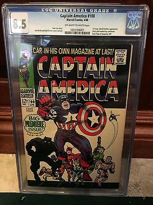 Rare Collectors Comics Captain America 100 Cgc 85 Vf 1st