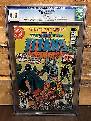 NEW TEEN TITANS 2 CGC 98 NMMT 1ST DEATHSTROKE THE TERMINATOR ID 7618