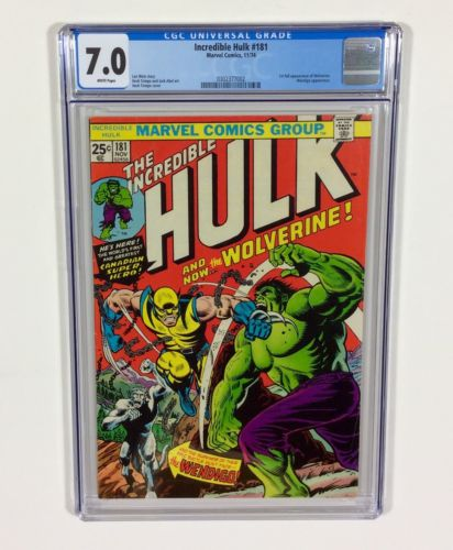 Incredible Hulk 181 CGC 70 KEY 1st Wolverine Full Nov1974 Marvel Comics