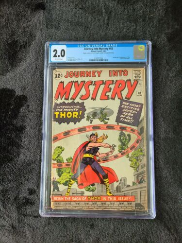 JOURNEY INTO MYSTERY 83 1962 CGC 20 OFF WHITE