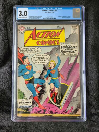 Action Comics 252 CGC Graded 30 CREAM TO OFFWHITE 1st Appearance of Supergirl