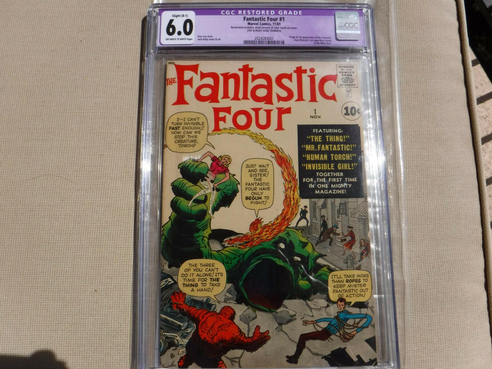 THE FANTASTIC FOUR 1 1961 Marvel CGC 60 See Photos