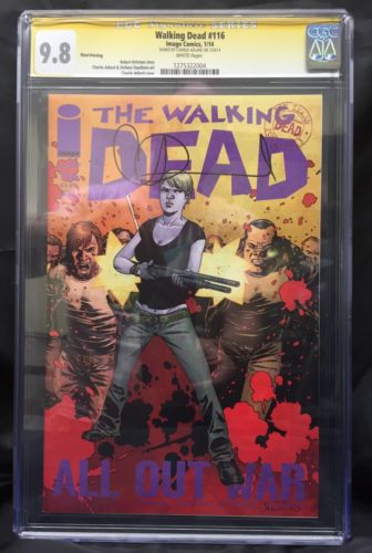 The Walking Dead 116 Third Print CGC 98 Signed By Charlie Adlard VERY RARE