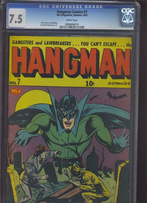 HANGMAN COMICS 7 CGC VF 75 CM Pg rare issue graveyard cover
