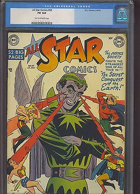 ALL STAR COMICS 52 CGC FN 60 TNOW Johnny Peril backup story