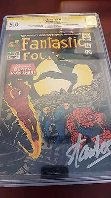 Fantastic Four 52 50 CGC SS Signature Series Stan Lee 1st  Black Panther