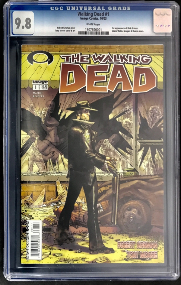 THE WALKING DEAD 1 CGC 98 WHITE PAGES KIRKMAN MOORE 1ST RICK GRIMES HIGH GRADE