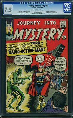 JOURNEY INTO MYSTERY 93 CGC VF OWWP THOR AVENGERS XMEN FANTASTIC FOUR DEFENDERS