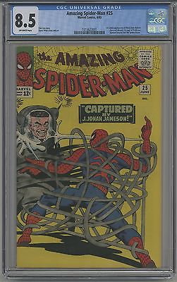 AMAZING SPIDERMAN 25 CGC 85  OW PAGES  1ST MARY JANE 1965 FANTASTIC