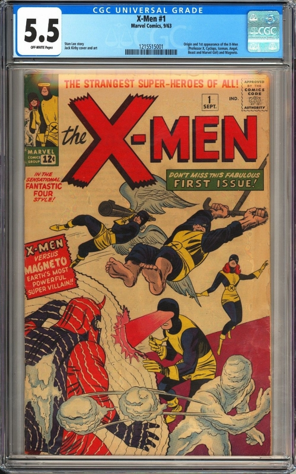 XMen 1 CGC 55 Beautiful Mid Grade Unrestored 1st App of XMen Original 1963